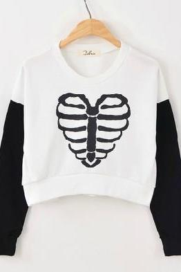 New Spring 2014 Harajuku Heart Bee Top Sweater