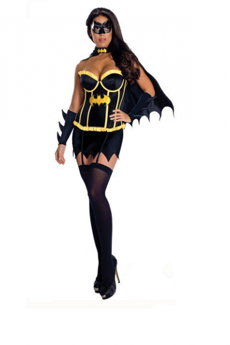Halloween uniform black sexy costumes