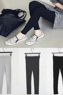 New winter female high elastic outer wear leggings sanding solid significantly thin cotton trousers