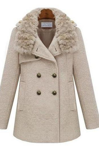 Winter Coat Wool Jackets Uk For Women M L S Xl Blue Top