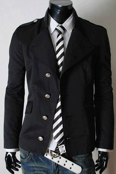 Men Autumn Winter Casual Collar Cotton Jacket Coat Outerwear