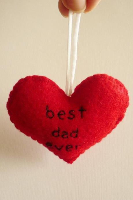 Father's Day Ornament - Best dad ever - funny handmade ornaments