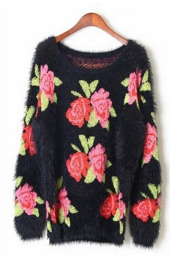 Rose Graphic Sweater