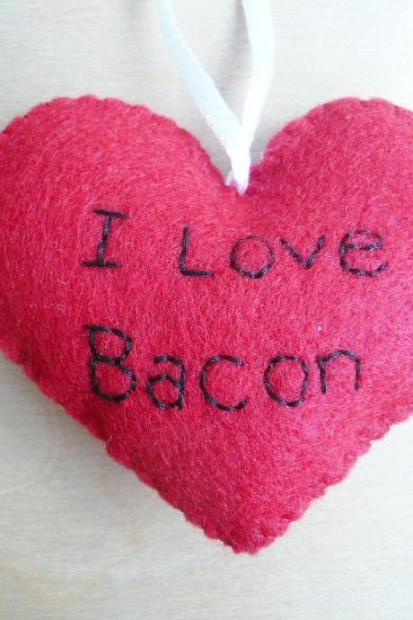 I love Bacon - Funny Bacon Ornament - Father's Day Ornament