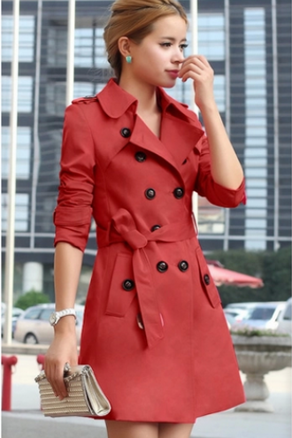The New Women's Clothing Paragraph Dust Coat Grows In The Spring And Autumn Period And The Coat Of Cultivate One's Morality