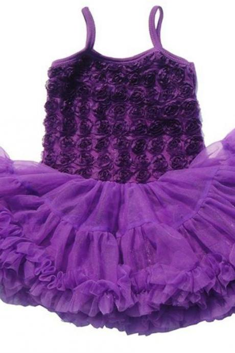 Purple Tutu Dress Ballet Outfit for Little Girls Super Soft Thick Fluffy Tulle