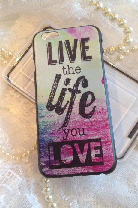 iPhone 6 4.7 Case Colorful Designer Live Life Love Hard Shell Cover