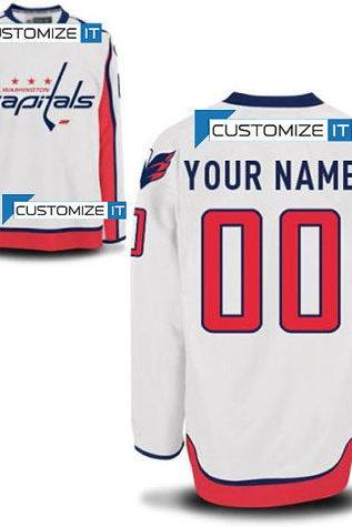 Men's Washington Capitals Customized Hockey Jersey,Name And Number Stitched