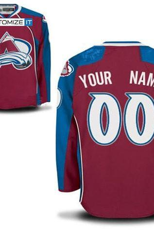 Men's Colorado Avalanche Customized Hockey Jersey,Name And Number Stitched