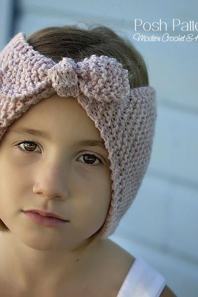 Knitting Pattern - Knit Headband Pattern - Headband Knitting Pattern - Ear Warmer - Includes Baby, Toddler, Child, Adult Sizes - PDF 392