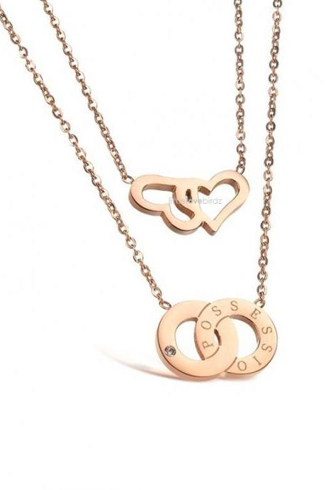 Love & Possession Rose Gold Necklace