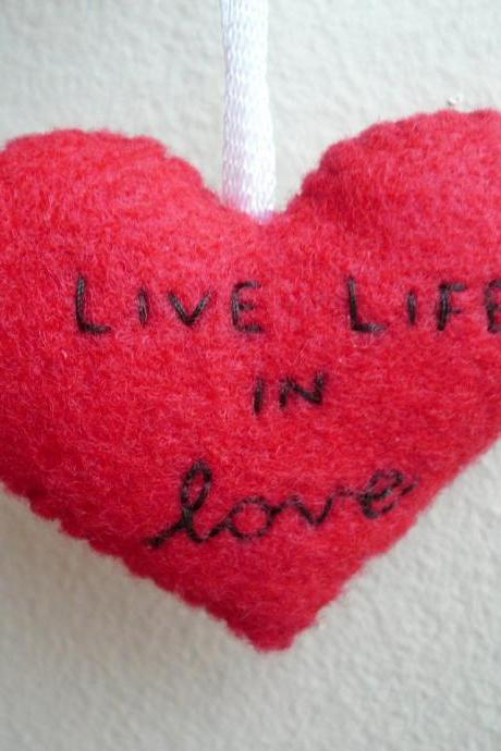 Handmade Ornament - Live Life in Love