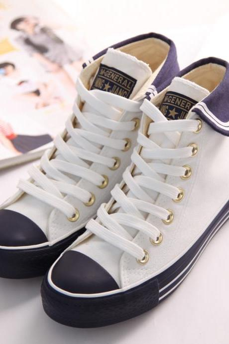 Kawaii Sweet Navy Wind Anchor Shoes