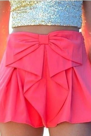 Bow Waist Shorts Cute
