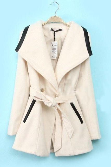 Double-Breasted Wool Coat Jacket Babhdh