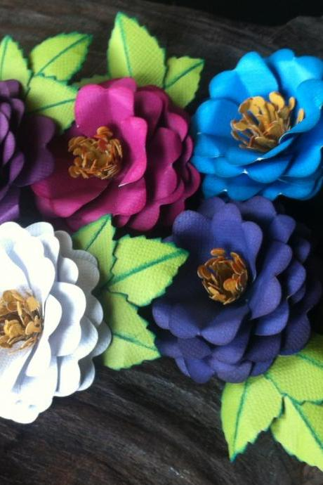Handmade Paper Flowers - A Midsummer Night Collection