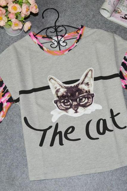 Cat Printed T -shirts