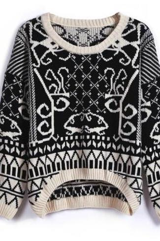 Geometric Knit Sweater