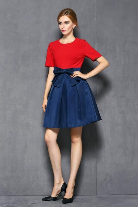 The new autumn outfit 2014 couture autumn Europe and the United States hit joining together cultivate one's morality dress