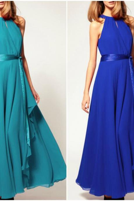 Lovely Chiffon Halter Dress in 3 Colors