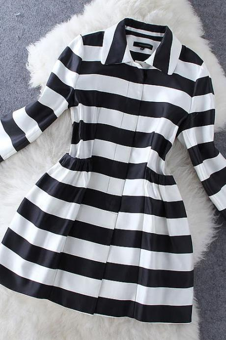 Fashion Stripe Coat