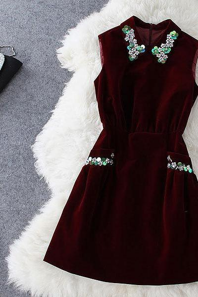 Fashion Style Beaded Dress
