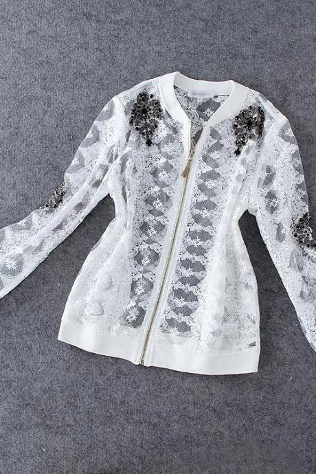 Heavy Beaded Lace Jacket