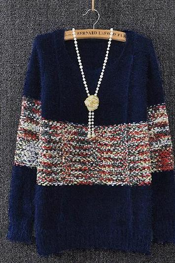 Loose Stitching Hedging Sweater