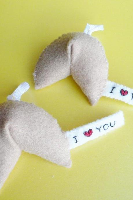 Funny Ornaments - I love you Fortune Cookie (x2)