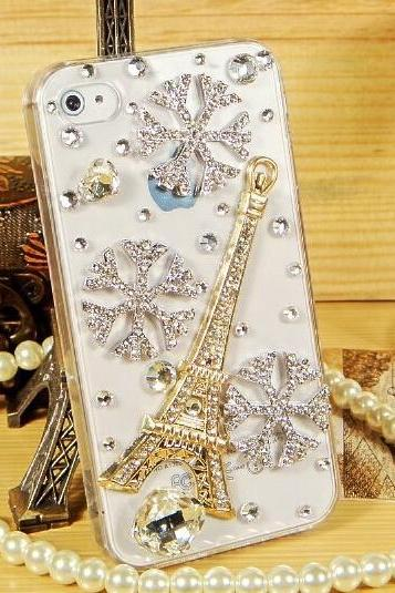 Tower snow section of the mobile phone iphone4/4s mobile phone protection shell shell apple 5/5s protective sleeve drill shell