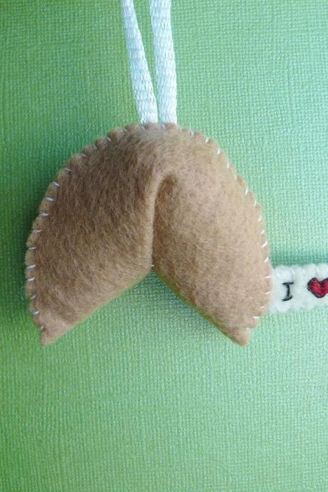 Fortune Cookie Handmade Ornament