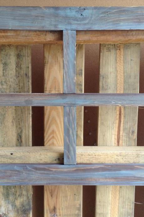 Large Reclaimed Blue Barn Wood Window Chicken Wire Backing