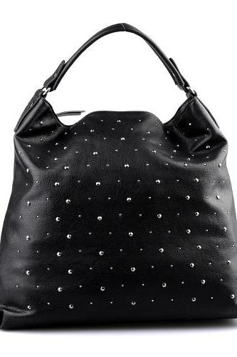 Black Hobo Handbag Black Leather Tote Black Handbags Black Leather Purse. Handbags Fall-Winter 2014/2015.