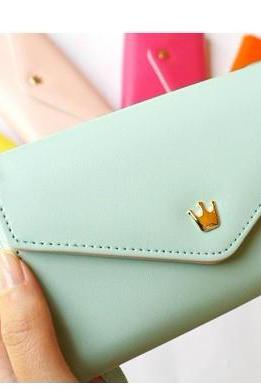 Mint Green Phone Bag Purse Change Purse Wallet With Card Pocket