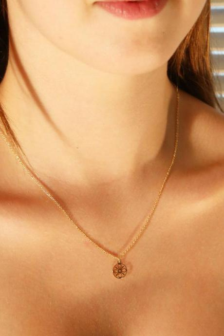 Gold necklace, tiny gold necklace, simple gold necklace, delicate necklace, 1everyday necklace 025