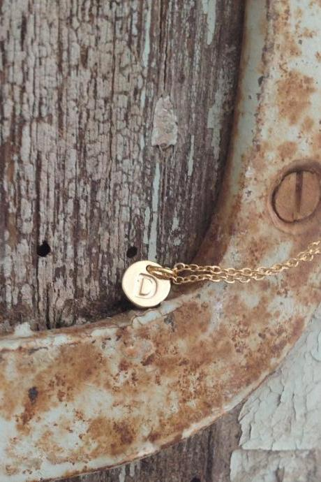 personalized necklace, initial necklace, tiny gold initial necklace, name necklace, petite necklace,1 friendship necklace A541