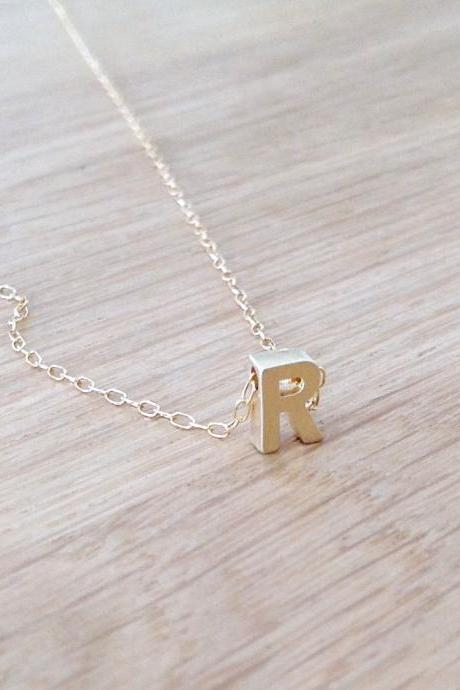 personalized necklace, gold filled necklace, name necklace, alfabet necklace, personalized necklace, 1monogram necklace, friendship 505