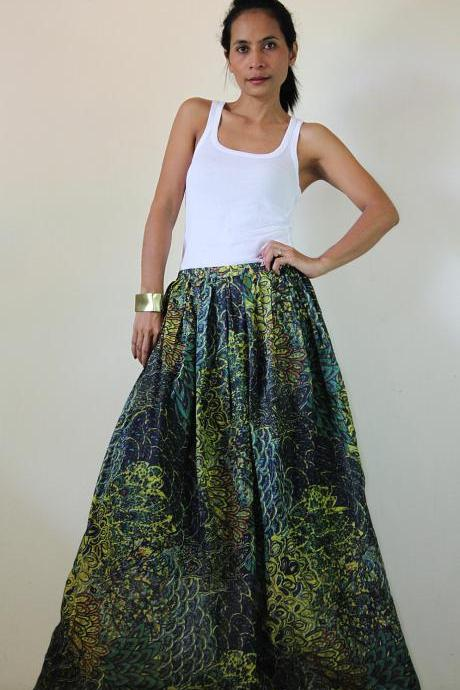Peacock Maxi Skirt : Feel Good Collection II