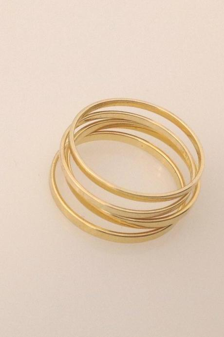 Knuckle ring, above knuckle rings, stacking rings, gold knuckle rings, gold ring, tiny ring A12