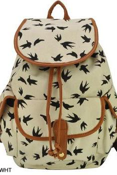 Animal Print Backpack For Girl School Rucksack Shoulder Bags