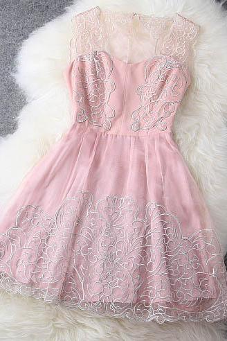 Lace Dress In Pink