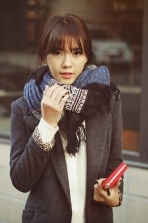 2015 new autumn and winter fashion knitting wool scarf