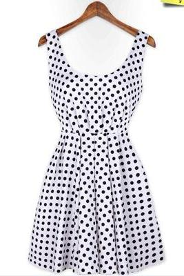 Polka Dot Backless Dress
