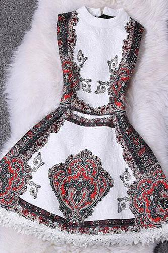 Vintage Luxury Beaded Embroidery Bodycon Jacquard Tank Dress