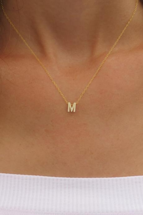 Goldfilled Initial Necklace - Gold Letter Necklace, Gold Necklace, Bridesmaid Gift, Delicate Necklace, Simple Gold Jewelry, Birthday gift