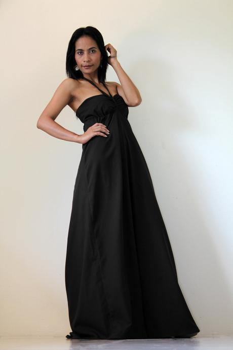Black Maxi Dress - Sexy Strapless Long Cotton Maxi Dress : New Cutie & Sexy Collection