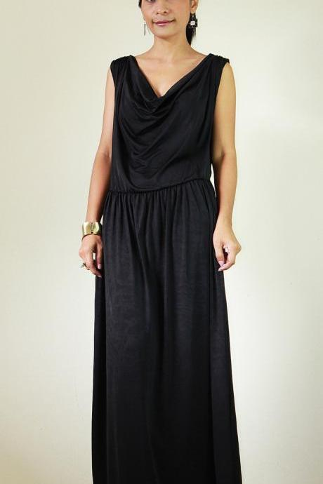 Long Black Dress Elegant Classy Evening Maxi Dress : Elegant Collection