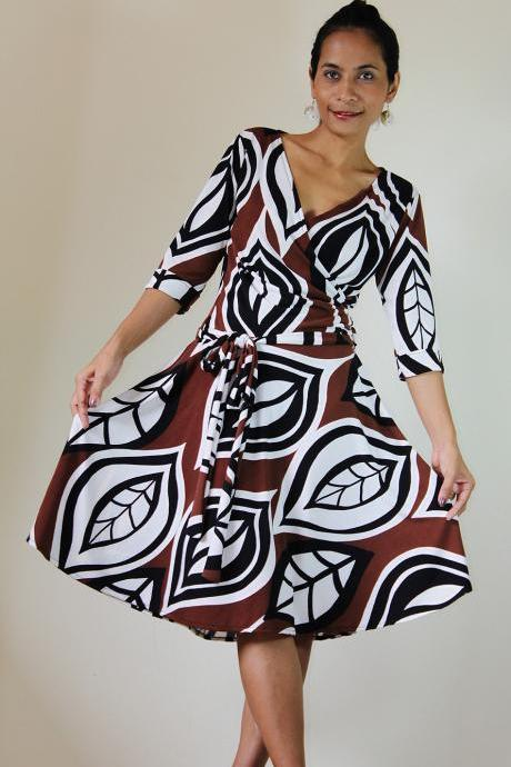 Short Brown White Dress Funky Evening Outifit: Elegant Collection