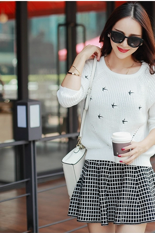 Autumn outfit two-piece dress