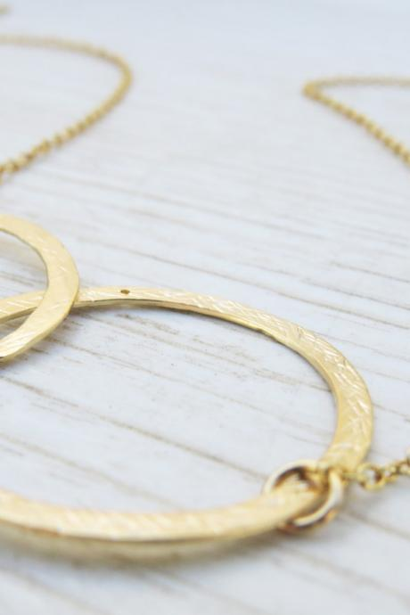 Gold circle necklace, Eternity gold necklace,14k Goldfilled necklace, Simple gold jewelry, Infinity gold necklace, Gift for her